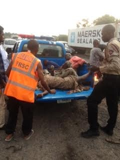 Olubisi packed with other victims as dead from the accident scene