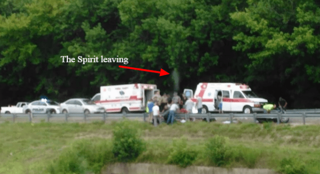 Man's spirit 'photographed leaving his body' after accident