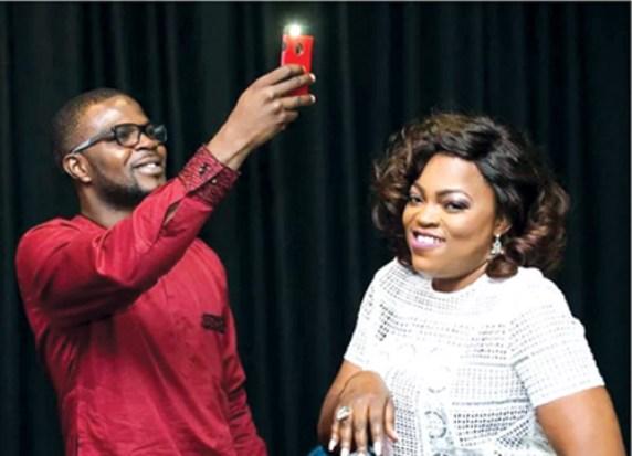 Funke Akindele,  JJC step out  as couple