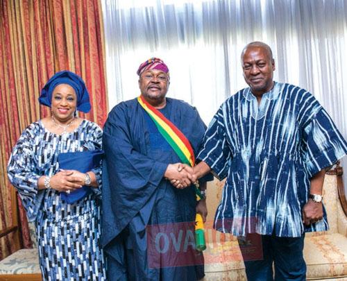 Image result for President Mahama lauds Adenuga at Ovation Christmas Carol