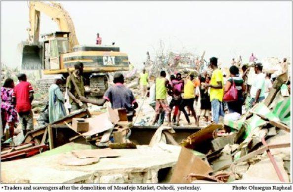 Gloom as govt. demolishes Oshodi curtain market
