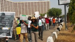 Image result for #IStandwithNigeria protesters