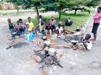 An IDP camp in Benue