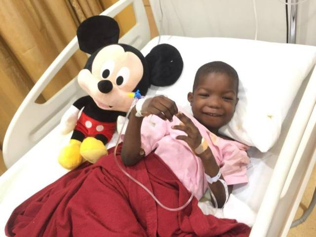 Image result for Joyful Return For Six-Year-Old Boko Haram Victim After Surgery