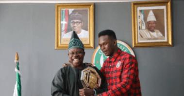 UFC champion Israel Adesanya visits Governor Amosun in Abeokuta