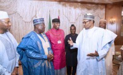 PHOTOS: Buhari receives newly elected Senate President, Deputy