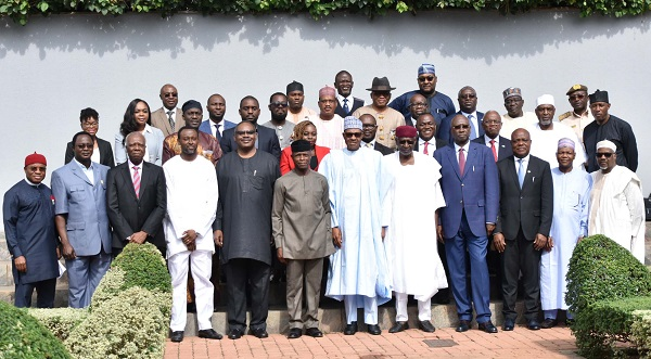 Photos: Buhari receives AfCFTA presidential committee in Abuja