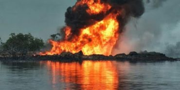 pipeline explodes in Rivers