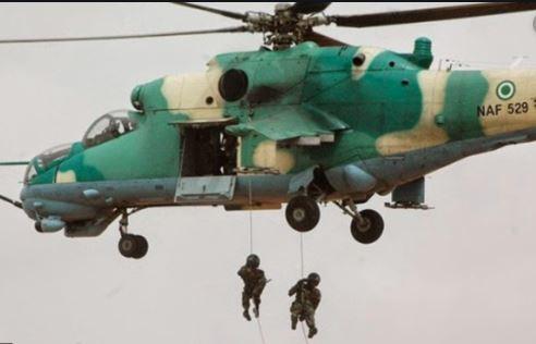 NAF air strike destroys Boko Haram's training camp in Borno