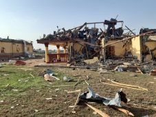 The Rainstorm That Accompanied The Heavy Downpour Experienced In Lokoja On Tuesday Night Has Led To The Destruction Of 18 Electric Poles And Some Houses In The City. Nigeria News Agency ( Nan) Visit