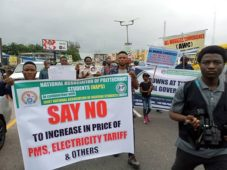electricity tarrif and fuel hike protest