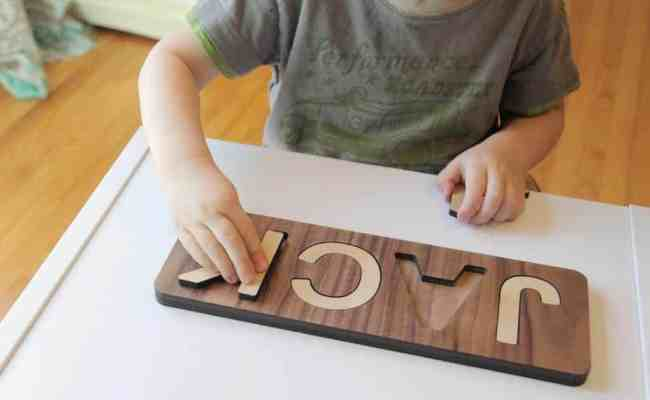 Custom Wooden Name Puzzle Natural Organic Personalized