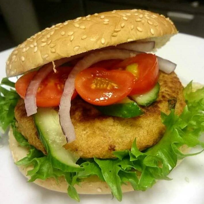 Provencal chickpea burgers