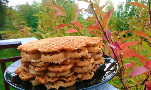Tasty gluten-free and sugar-free waffles