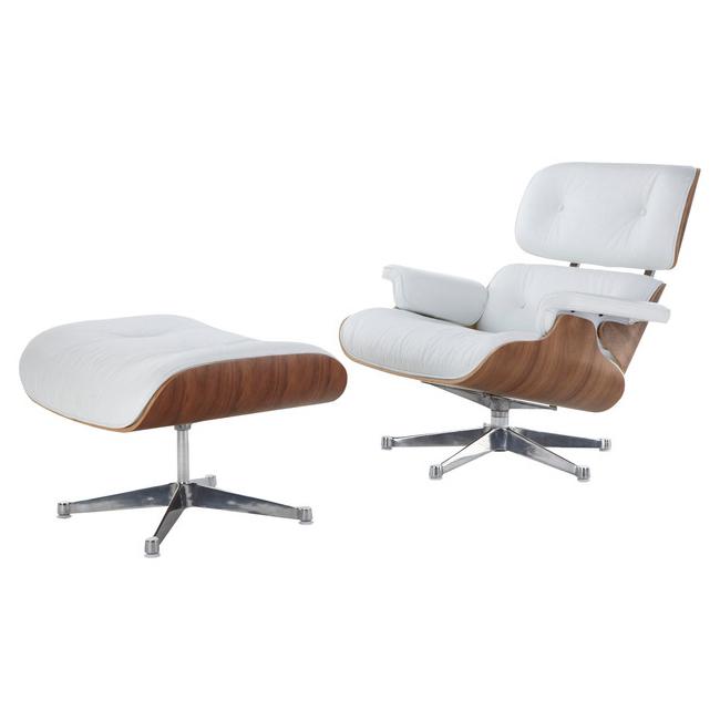 Eames Style Lounge Chair Ottoman