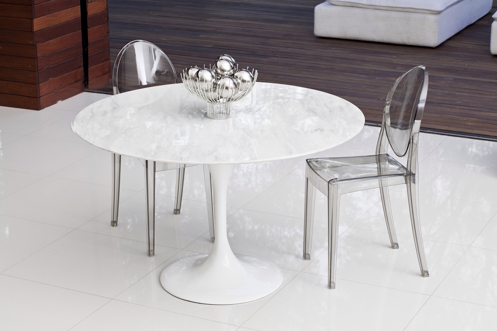 tulip table and chairs uk wheelchair repair marble 90cm - the natural furniture company ltd