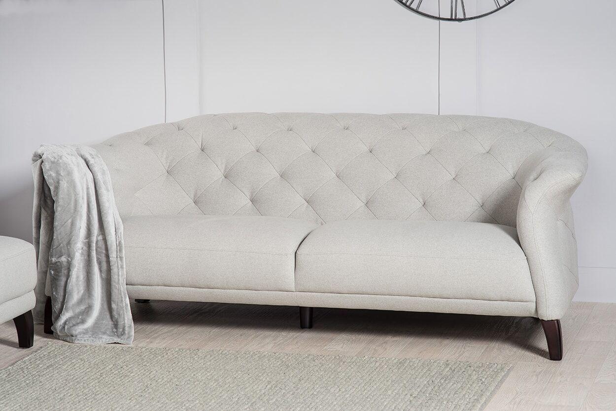 Crispin 4 seater modern chesterfield sofa Grey modern
