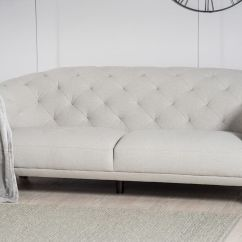 Light Grey Chesterfield Sofa Chem Dry Cleaning Crispin 4 Seater Modern