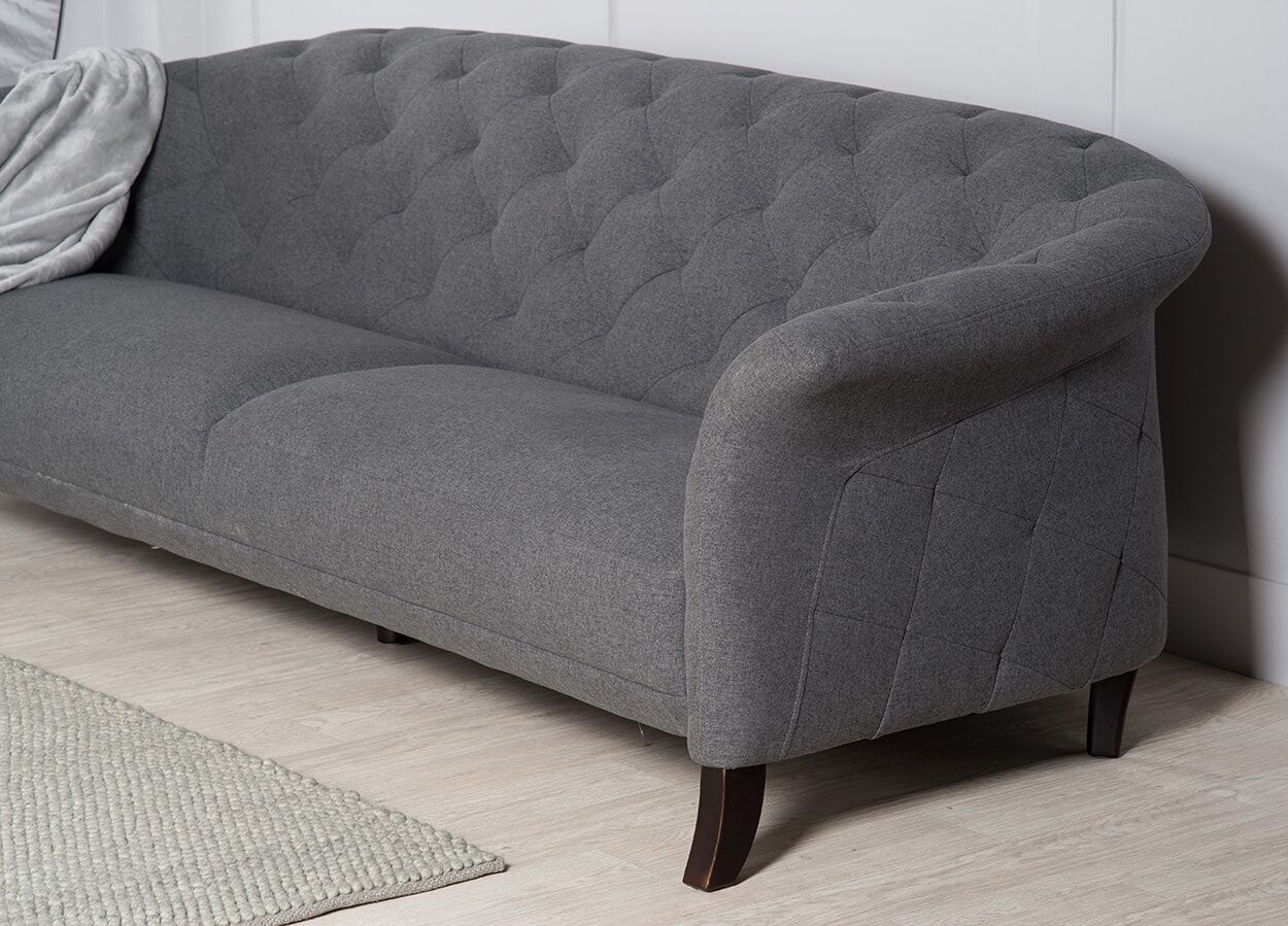 sofa arm covers gray what is a sleeper crispin 4 seater modern chesterfield grey