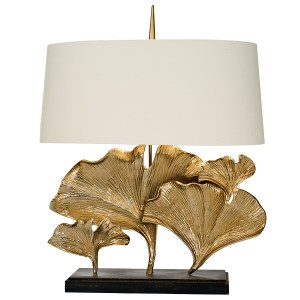 9055-89117 GIANT GINKGO Brass Finish