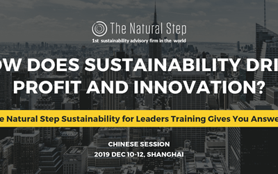 Next Sustainability for Leaders Training, Levels I & II courses available in China, December 2019