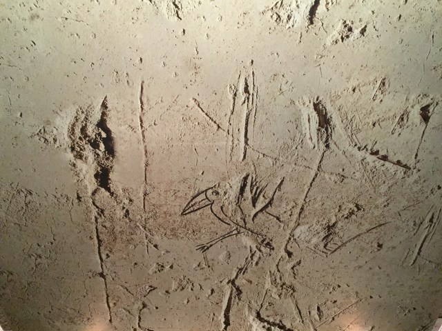 12th Century scratching in a Templar castle, representing a devotion of Christianity. Photo: David Maddox