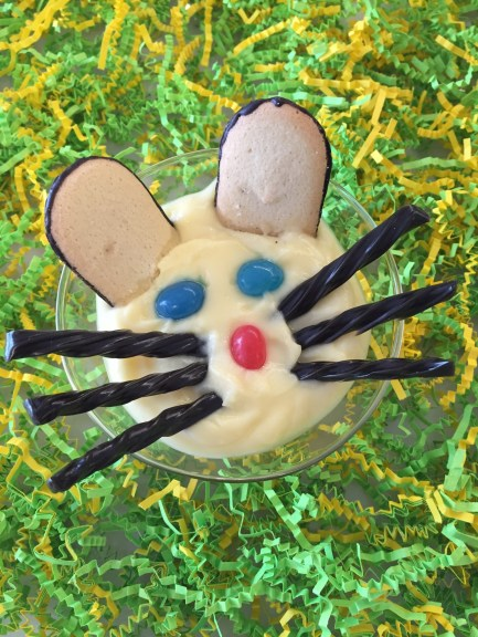 Easter Snacks Your Kids Can Make Themselves-- Bunny Face with Milano Cookies.