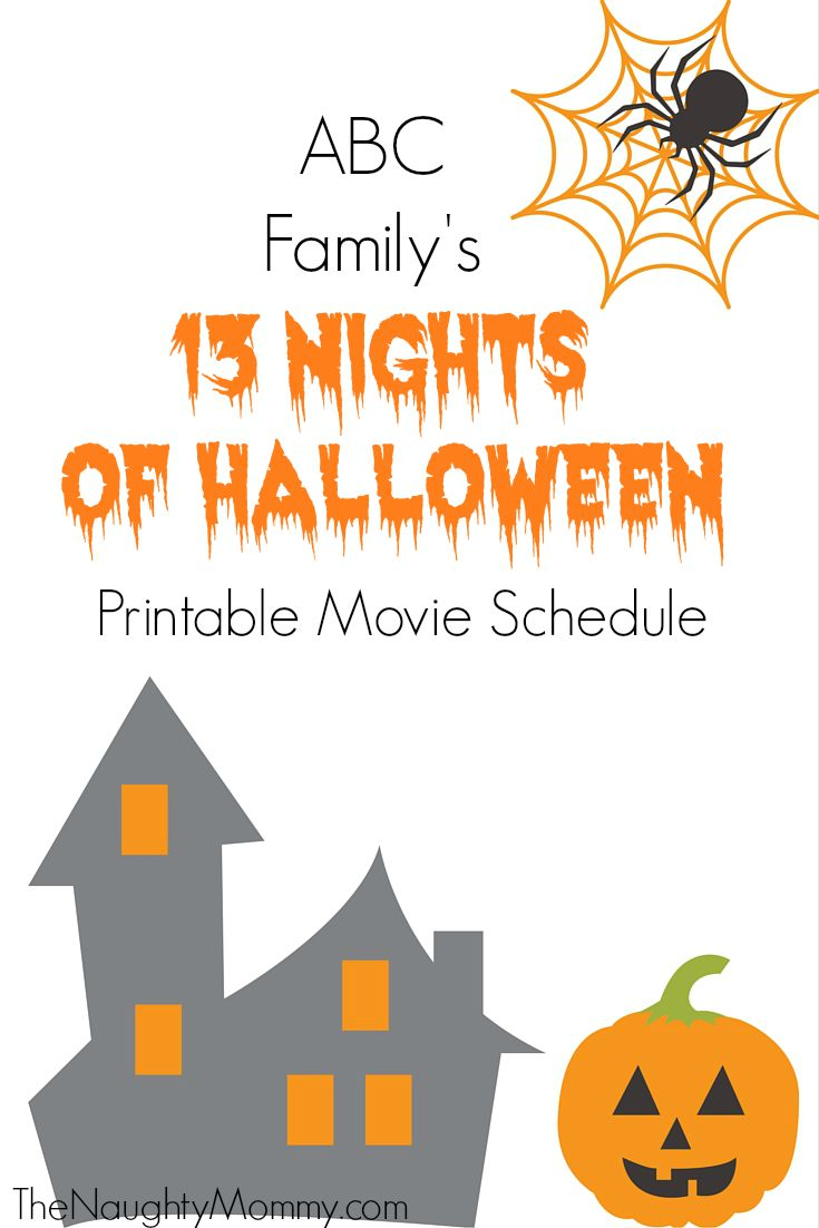 abc family 13 nights of halloween movie schedule