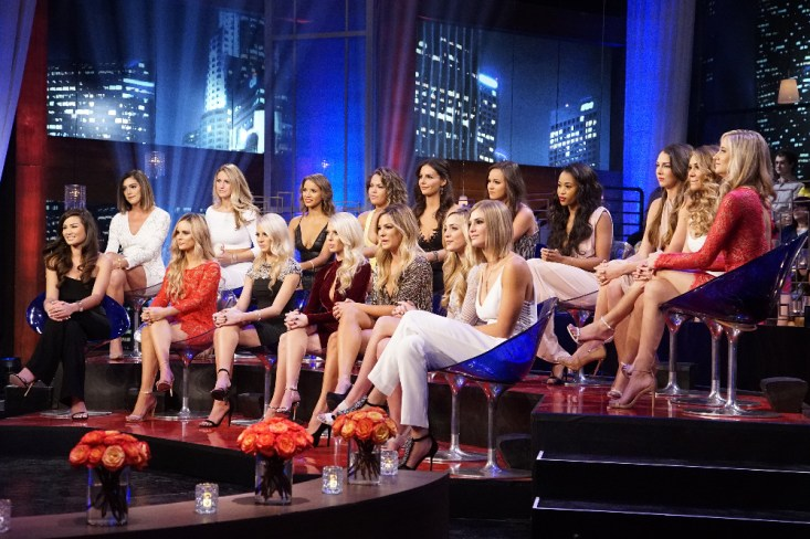 "THE BACHELOR - ""The Women Tell All"" - Tempers flare, and there are plenty of fireworks, as the most memorable women this season are back to confront Ben and tell their side of the story. There were highs and lows during Ben's' unforgettable season - and then there was Olivia, one of the most controversial bachelorettes of the group. The very self-confident Olivia, who has been the woman viewers and the other bachelorettes have loved to hate, returns to have her chance to defend herself. Caila shares the devastating ending to her love story with Ben. Jubilee and Amanda attempt to get some closure to their heart-wrenching break-ups. Then, take a sneak peak at the season finale and Ben's final two women - Jo Jo and Lauren B. - both of whom he declared his love to, on ""The Bachelor: The Women Tell All,"" MONDAY, MARCH 7 (8:00-10:01 p.m. EST), on the ABC Television Network. (ABC/Kelsey McNeal) CAILA, LACE, AMANDA, TIARA, HALEY, AMBER, EMILY, JAMI, BECCA, ISABEL ""IZZY"", LEAH, OLIVIA, RACHEL, JUBILEE, JENNIFER, SHUSHANNA, LAUREN H."