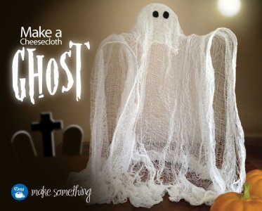 cheese cloth ghost - makesomething.dritz.com