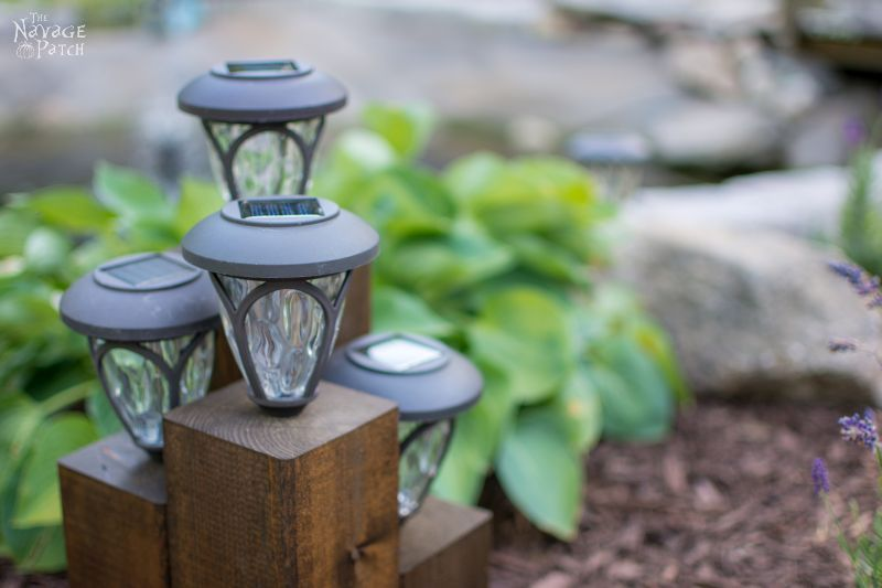 DiY Cedar Cube Landscape Lights - TheNavagePatch.com