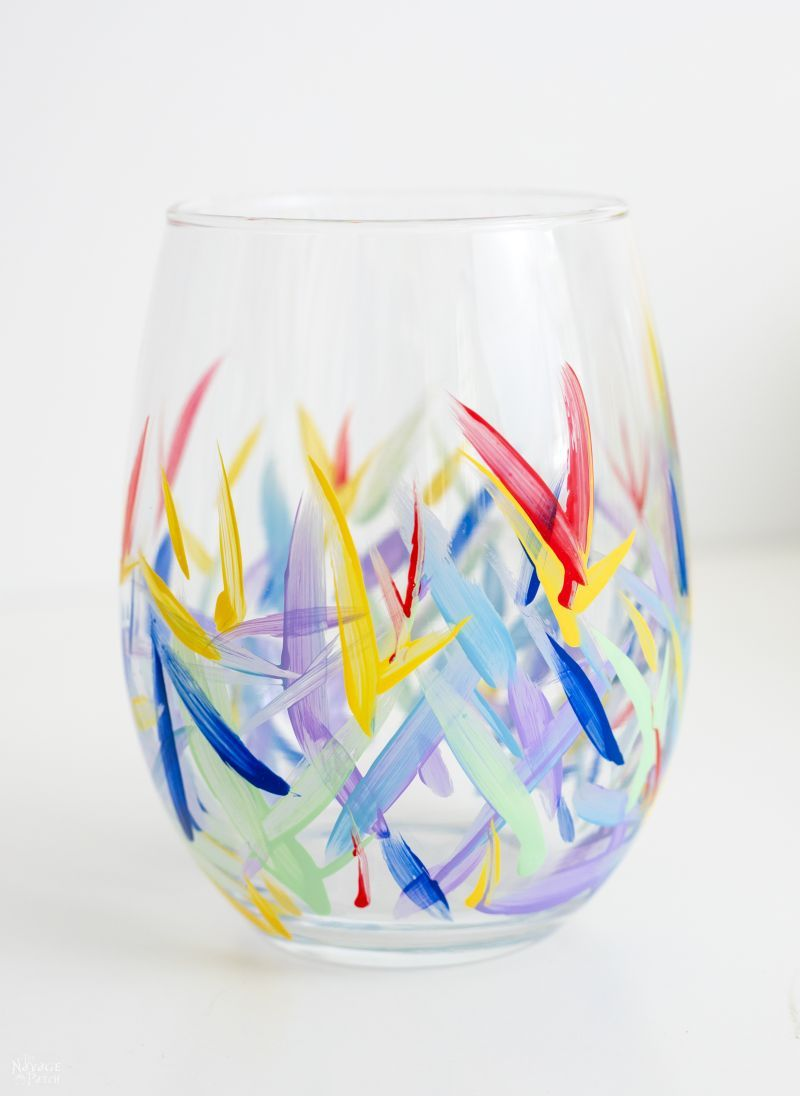 Glass Cup Painting : glass, painting, Painted, Glasses, (from, Dollar, Store!), Navage, Patch