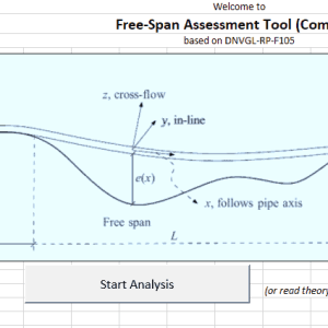 DNVGL RP F105 free span criteria check v0.0 Compact TheNavalArch Excel