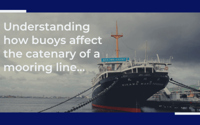 Understanding how buoys affect the catenary of a mooring line