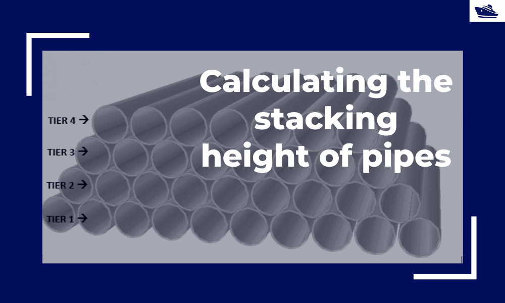 Calculating the maximum stacking height of pipes