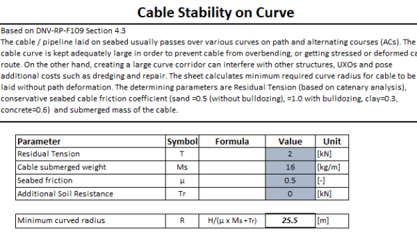 Subsea Cable Calculator TheNavalArch 6