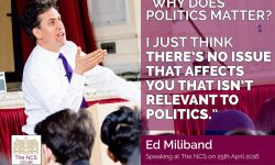 QUOTE Ed Miliband Engages Newham Collegiate Sixth Form Centre (The NCS) Students With A Lively Talk On Politics - In Video