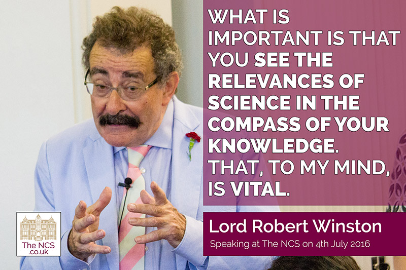 QUOTE Lord Robert Winston visits Newham Collegiate Sixth Form Centre (The NCS) Scientists