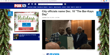 FOX 13 News (12/10/16)