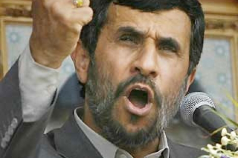 Mahmoud Ahmadinejad . . . fights back with oil embargo
