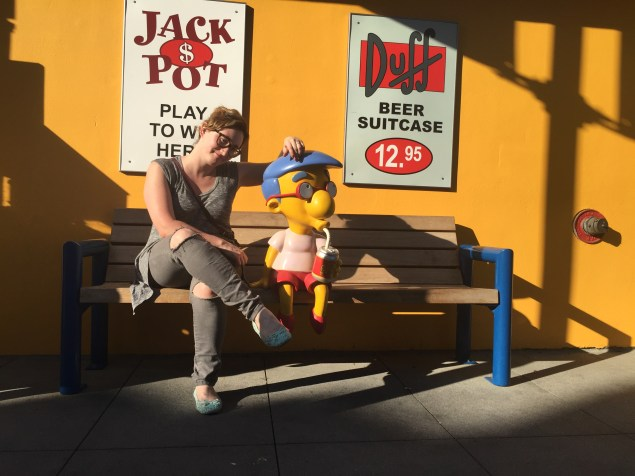Hanging out with Milhouse