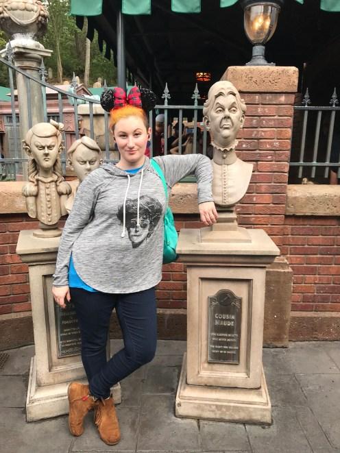 Rachel with some Tombstones