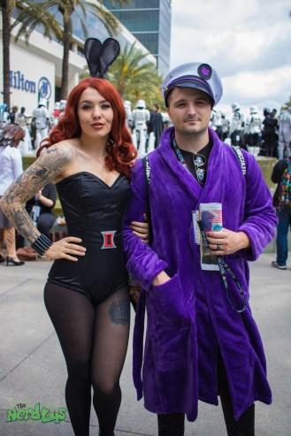 Bunny Black Widow and Hawkeye Hef (@keelycosplay)