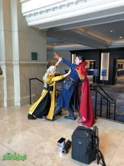 Ancient One and Dr. Strange mid-shoot @athel_Artistry and @chadhatter