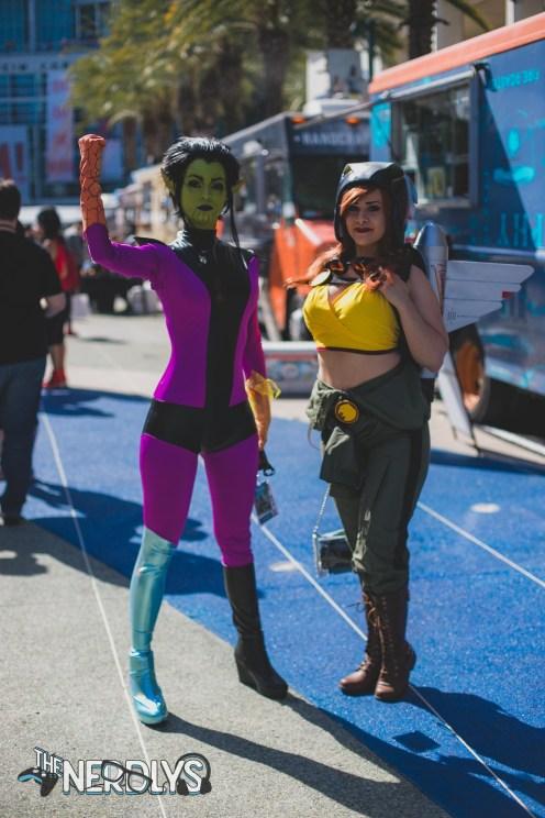 Super Skrull and Hawkgirl (@saramonicosplay)