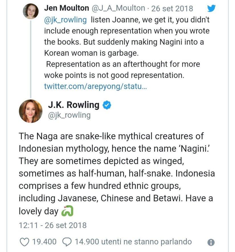 Nagini - J K Rowling