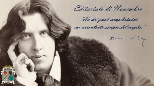 L'editoriale di novembre: 120 anni dalla morte di Oscar Wilde