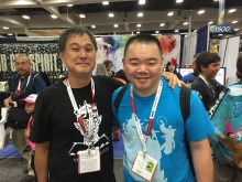 Eric Nakamura at the Giant Robot booth