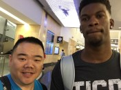 Technically not at SDCC, but holy shit that's the Bulls' Jimmy Butler!!!!