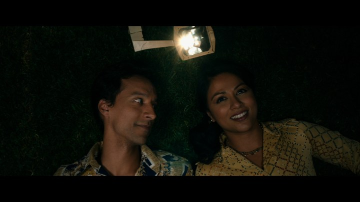THE TIGER HUNTER Non-exclusvie Sami (Danny Pudi) and Ruby (Karen David)